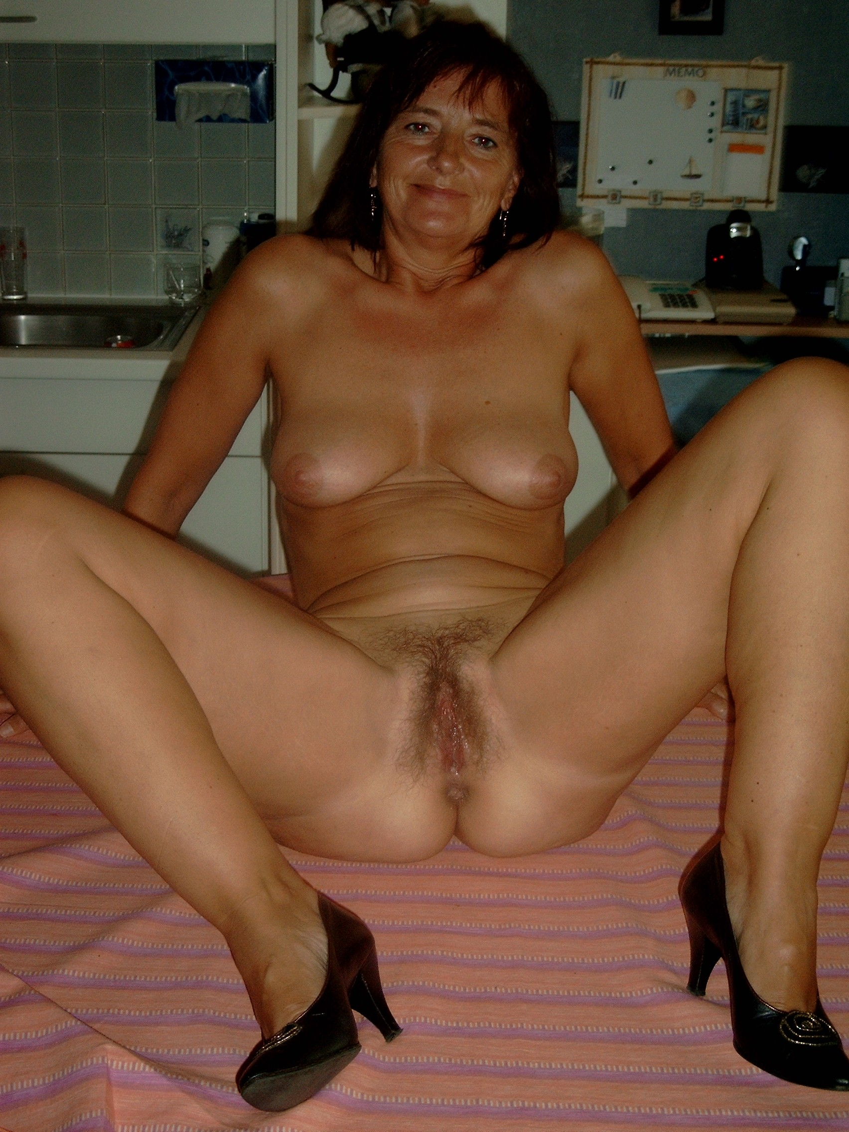 Old whore standing naked really. happens